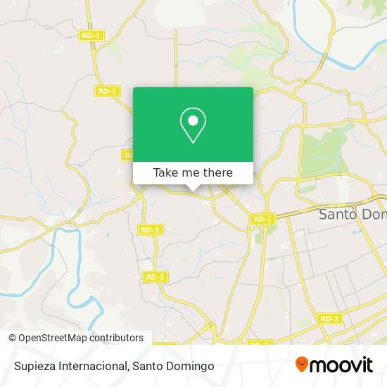 Supieza Internacional map