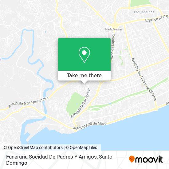 Funeraria Socidad De Padres Y Amigos map