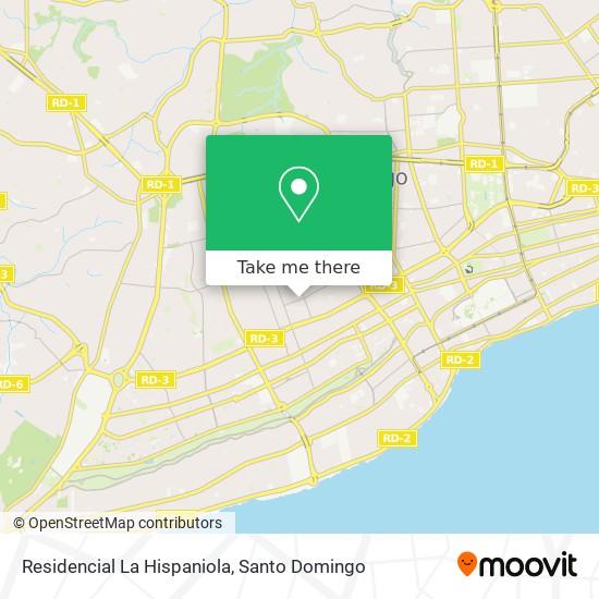 Residencial La Hispaniola map