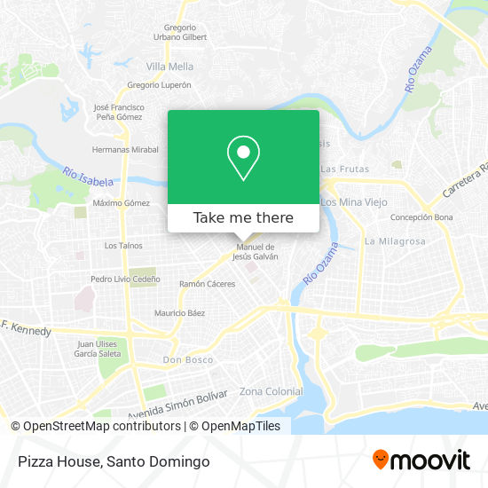 Pizza House map