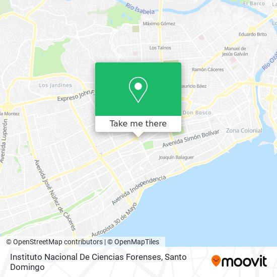 Instituto Nacional De Ciencias Forenses map