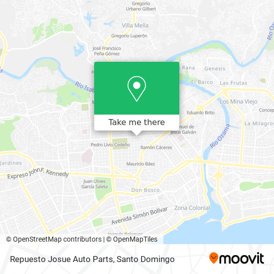 Repuesto Josue Auto Parts map
