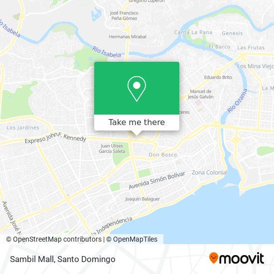 Sambil Mall map