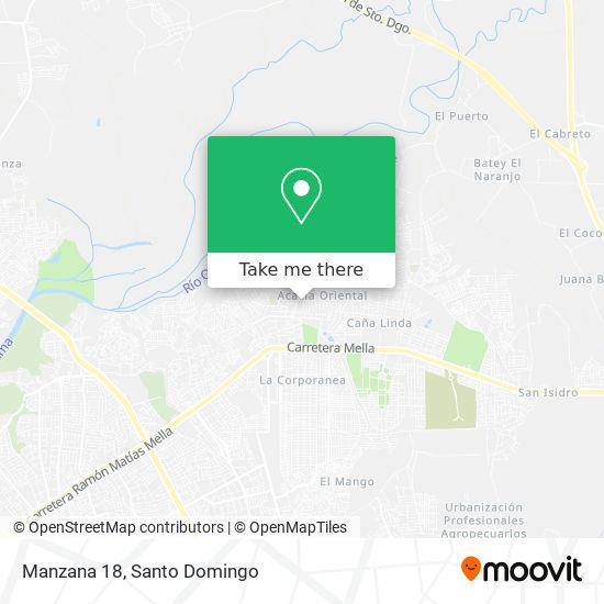 Manzana 18 map