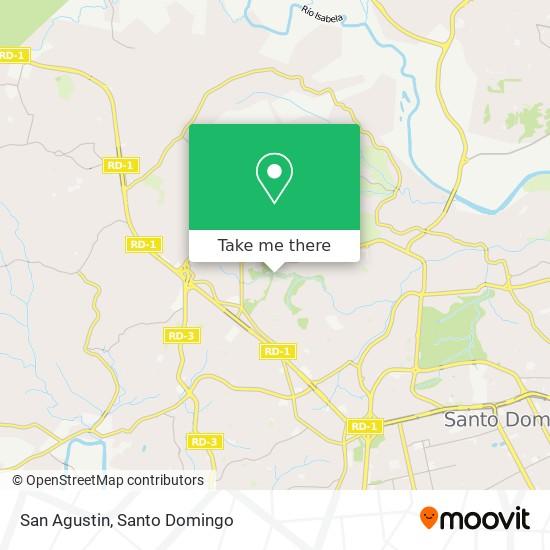 San Agustin map