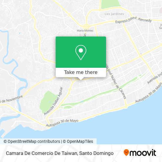 Camara De Comercio De Taiwan map