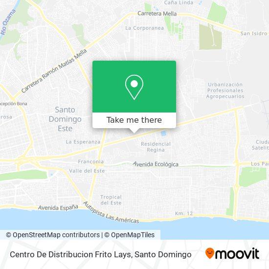 Centro De Distribucion Frito Lays map