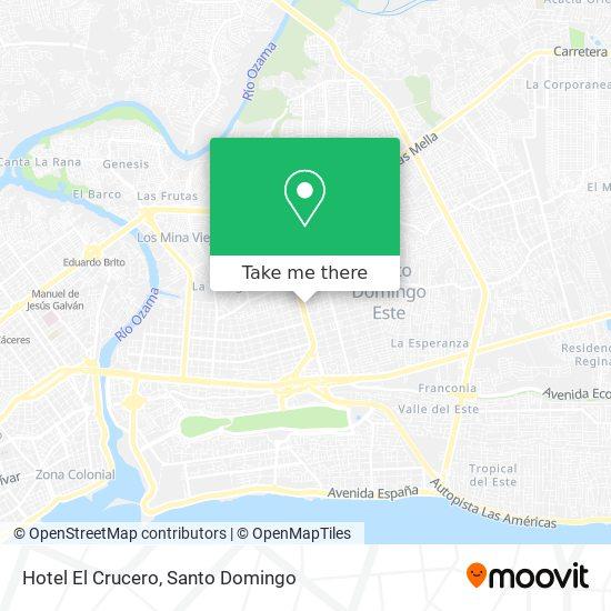 Hotel El Crucero map