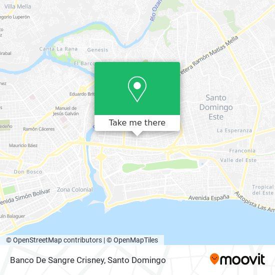 Banco De Sangre Crisney map