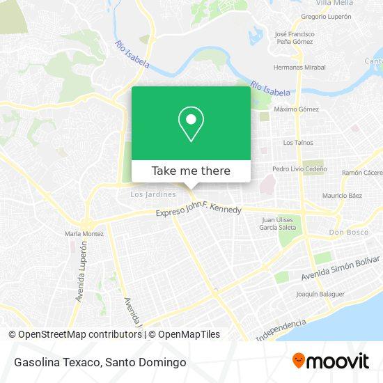 Gasolina Texaco map