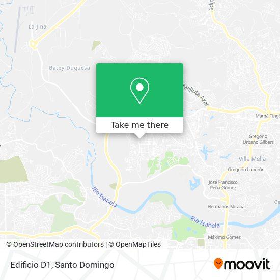 Edificio D1 map