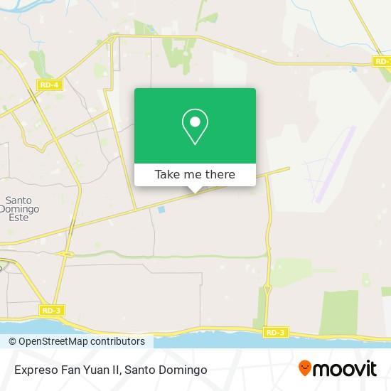 Expreso Fan Yuan II map
