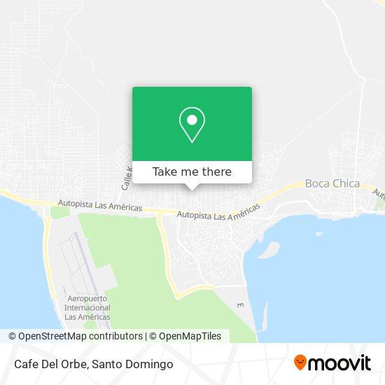 Cafe Del Orbe map