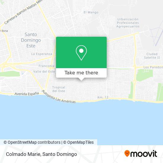 Colmado Marie map