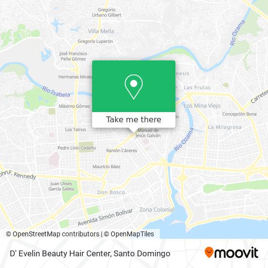 D' Evelin Beauty Hair Center map