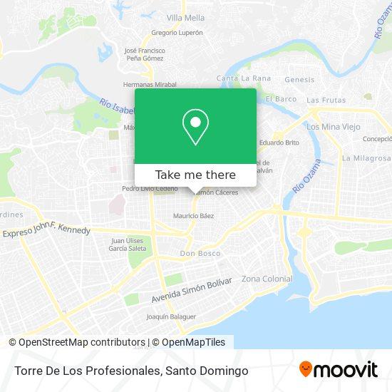 Torre De Los Profesionales map