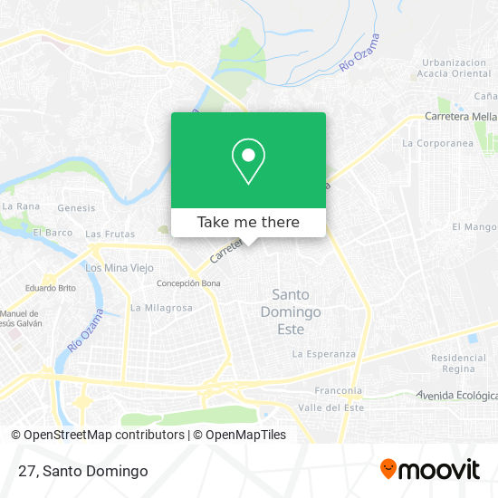 Manzana 27 map