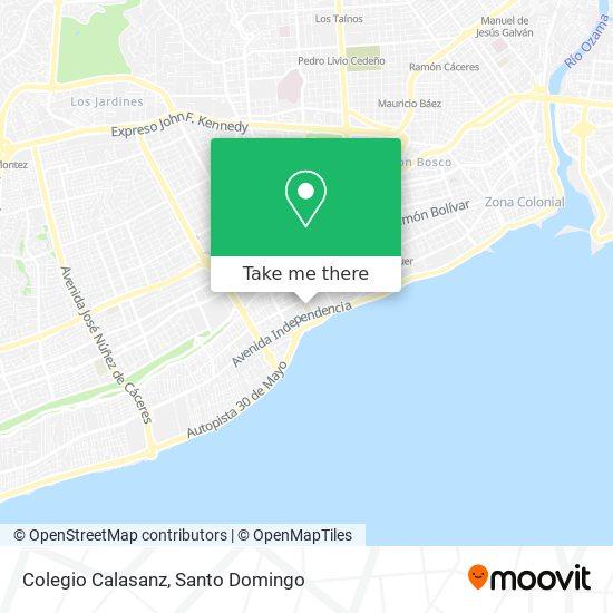 Colegio Calasanz map