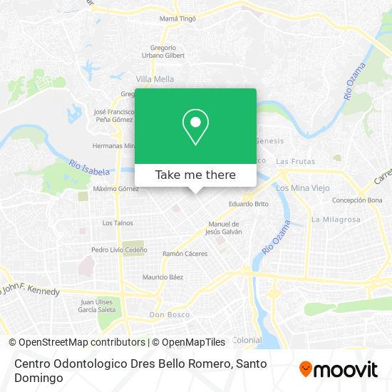 Centro Odontologico Dres Bello Romero map