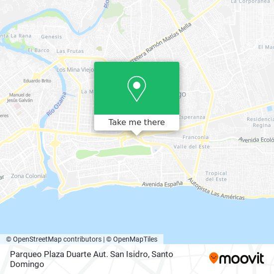 Parqueo Plaza Duarte Aut. San Isidro map