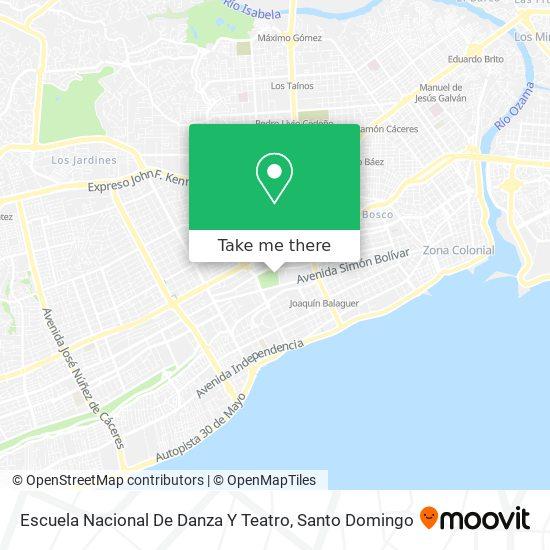 Escuela Nacional De Danza Y Teatro map