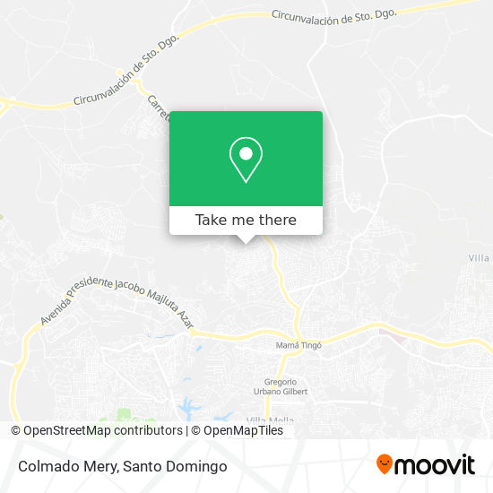 Colmado Mery map