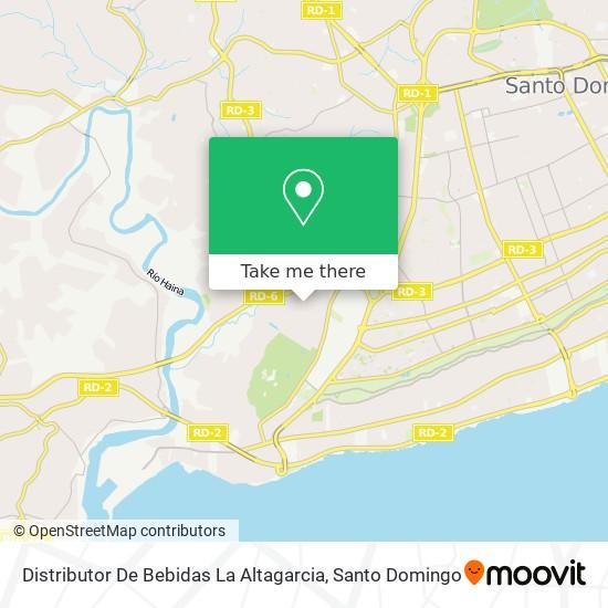 Distributor De Bebidas La Altagarcia map