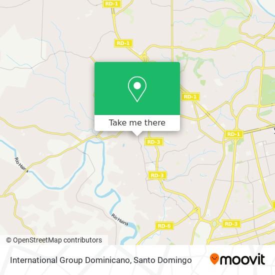 International Group Dominicano map