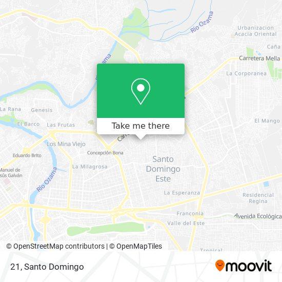 Manzana 21 map