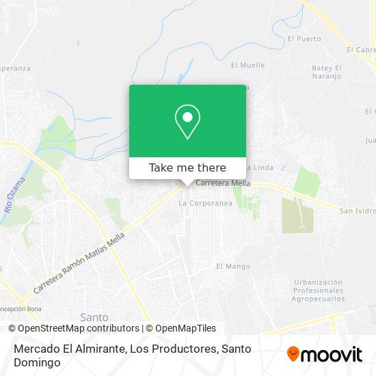 Mercado El Almirante, Los Productores map