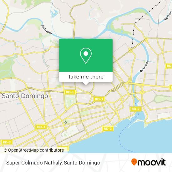 Super Colmado Nathaly map