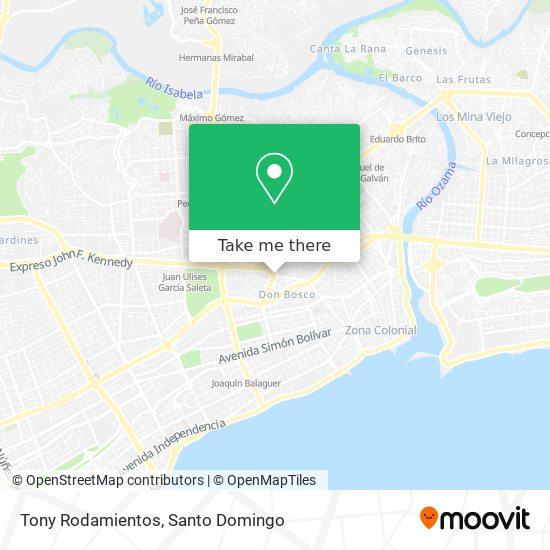 Tony Rodamientos map