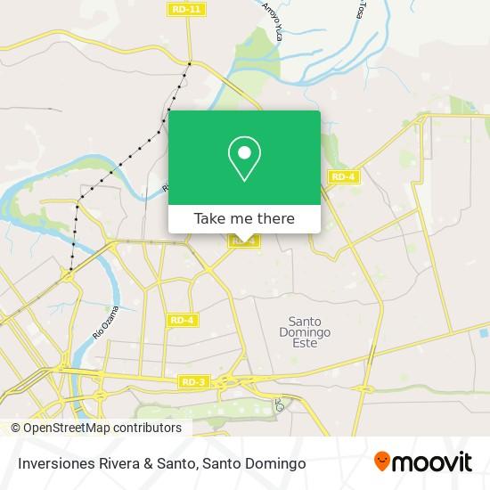Inversiones Rivera & Santo map