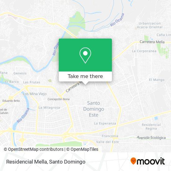 Residencial Mella map
