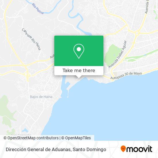 Dirección General de Aduanas map