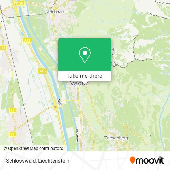 Schlosswald map