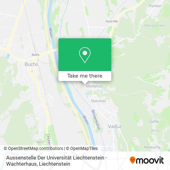 Aussenstelle Der Universität Liechtenstein - Wachterhaus map