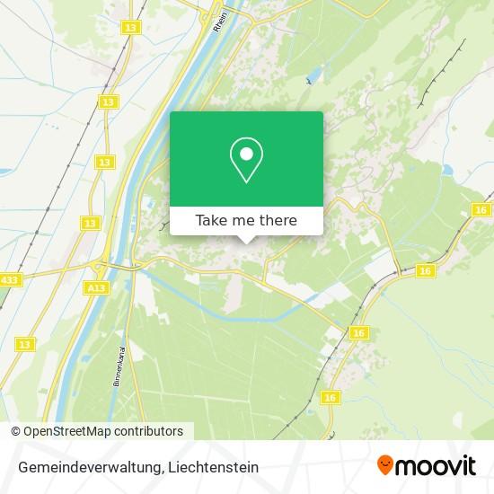 Gemeindeverwaltung map