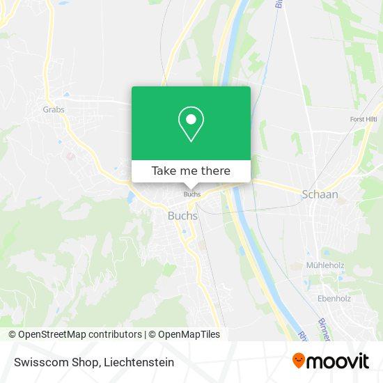 Swisscom Shop map