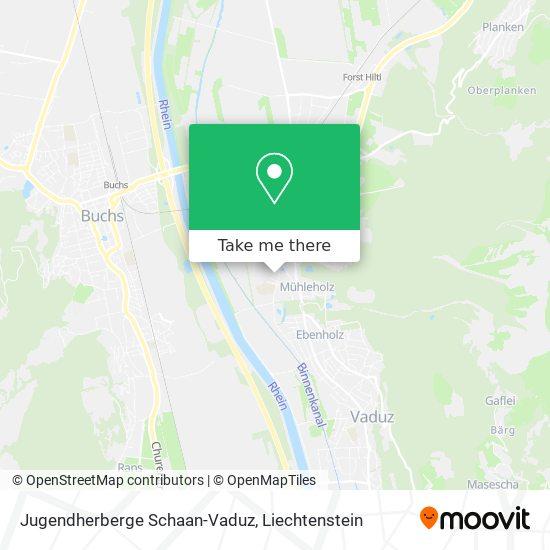 Jugendherberge Schaan-Vaduz map