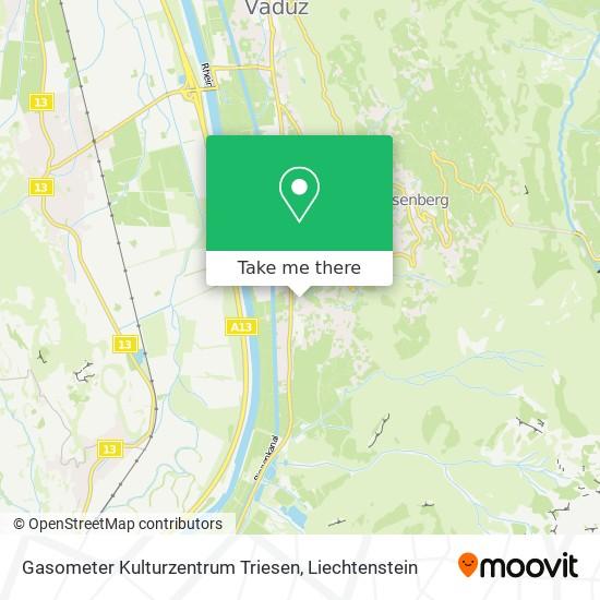 Gasometer Kulturzentrum Triesen map