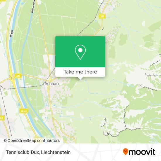 Tennisclub Dux map