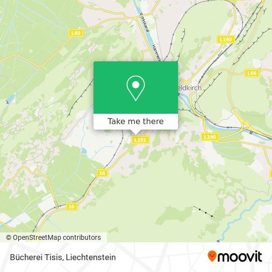 Bücherei Tisis map