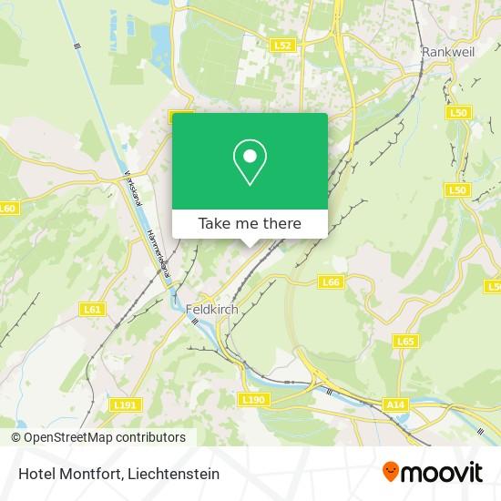 Hotel Montfort map