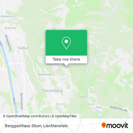 Berggasthaus Silum map