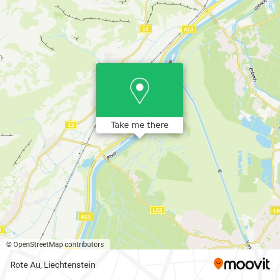 Rote Au map
