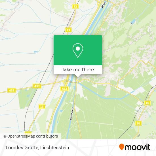 Lourdes Grotte map