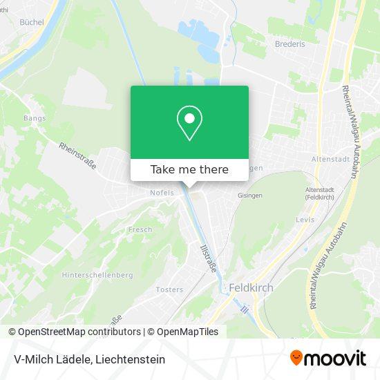 V-Milch Lädele map