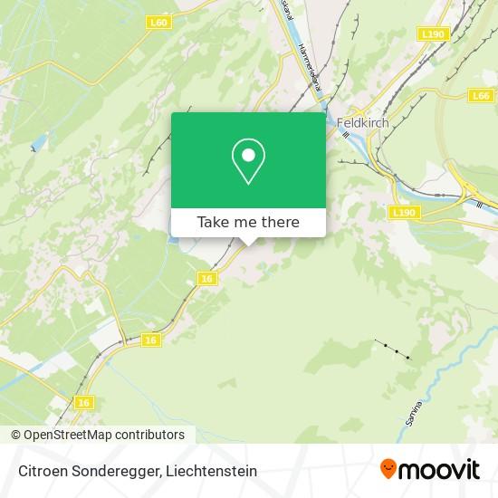 Citroen Sonderegger map