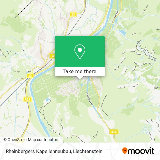 Rheinbergers Kapellenneubau map